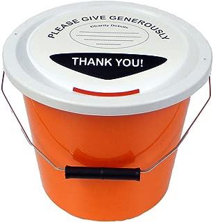 ELC Charity Money Collection Bucket 5 litres - Orange