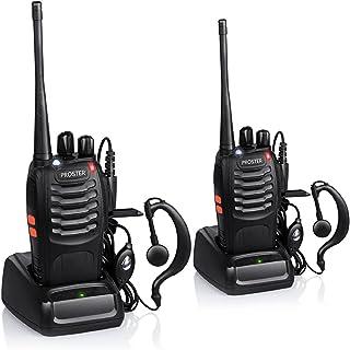 Proster Walkie Talkie Recargables 16 Canales Walkis Profecionales CTCSS DCS Walky Walky Radiocomunicación con Carga Tipo U...