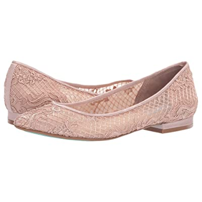 Blue by Betsey Johnson Lacey Flat (Pale Nude) Women