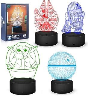 Cadeaux Lampe 3D, Veilleuse Décorative à 16 Couleurs Changeantes avec Télécommande, Cadeaux de Jouets Parfaits pour les Fa...