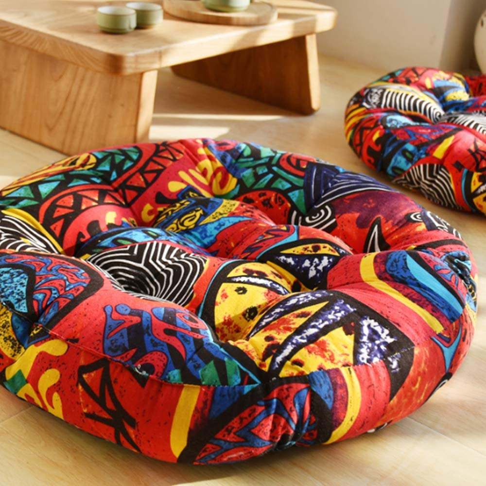 HZOIIE Round Bohemian Floor Cushion Medit Linen Cotton Free shipping Pillows Directly managed store