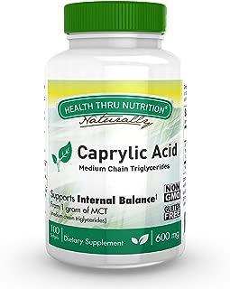 Caprylic Acid 600 mg 100 cápsulas blandas Sin OMG (100)