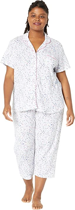 Plus Size Azure Whisper Short Sleeve Girlfriend Long PJ