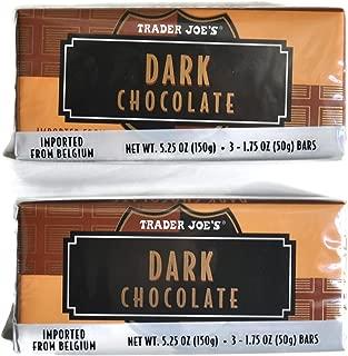 Trader Joe's Belgian Dark Chocolate Bars, 1.75 oz (2 Packs of 3)