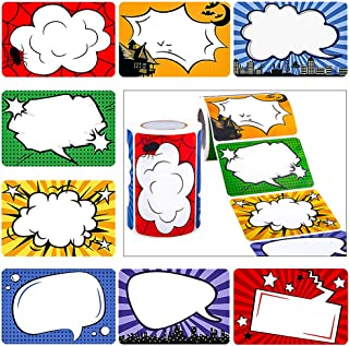 JPSOR 500pcs Superhero Name Label Stickers, Name Tags for Kids, Students and Teachers, Home, School, Office Supplies (2 Rolls, 8 Designs)