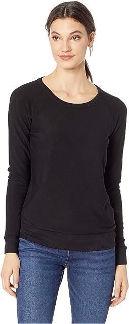 Cozy Knit Long Sleeve Raglan Pullover