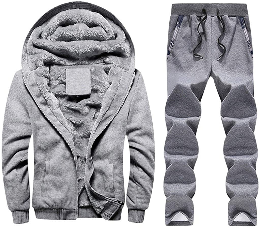 Toimothcn Mens Faux Fur Lined Coat Winter Hood Fleece Zippe Warm Brand Sale Special Price new