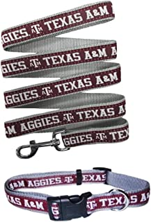 Pets First Texas A&M Aggies Nylon Collar and Matching Nylon Leash for Pets (NCAA Official Size Medium