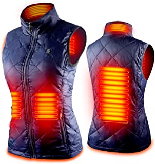Women's Heated Vest with 3 Heating Levels, 4 Heating...