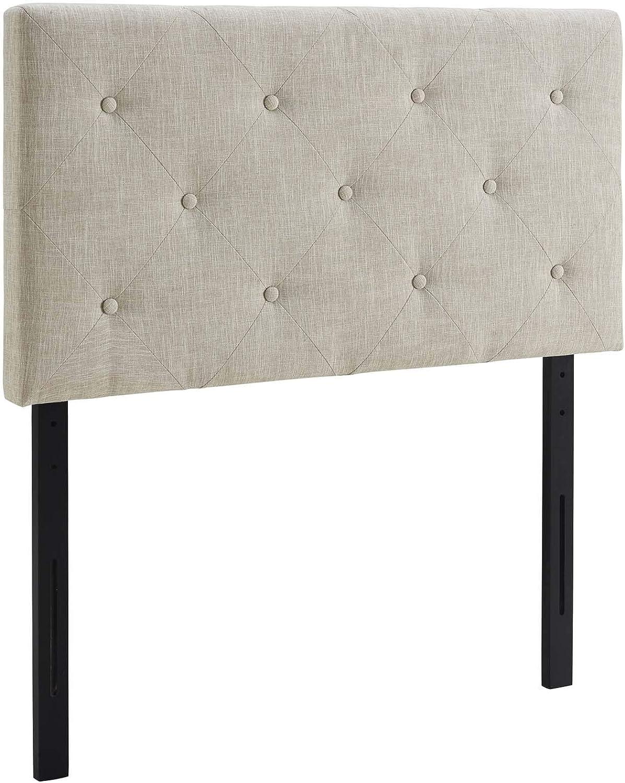 Modway Terisa Twin Upholstered Fabric Headboard, Beige