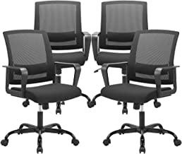 CLATINA Ergonomic Rolling Mesh Desk Chair with Executive Lumbar Support and Adjustable..