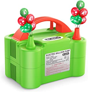 Dr. Meter Electric Balloon Air Pump, 110V 600W Portable Balloon Blower/Inflator with Dual..