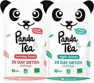 Panda Tea - Organic Cleanse Tea - Detox Tea - Slim Fit - 56 Tea Bags - 28-Day Slimming Detox - Weight Loss