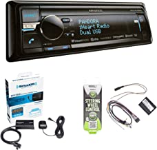 Kenwood KDC-BT858U CD Player Bluetooth USB SiriusXM Stereo Receiver with Sirius SXV300-V1 Vehicle Satellite Radio Tuner & Metra Axxess ASWC-1 Universal Steering Wheel Control Interface