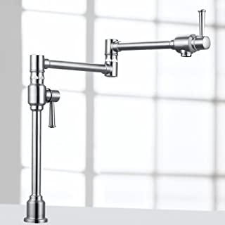Geyser GF48-S Stainless Steel Deck Mount Pot Filler Kitchen Faucet with Dual Handles by Geyser