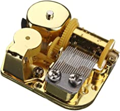 18 Notes Musical Mechanism Movement for DIY Music Box, Rudolph The Red-Nosed Reindeer Musical Box, Golden Clockwork Music Movement