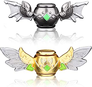 Dark Bat and Gold Angel Fidgit Finger Hand Spinner Fidget Toys Spinners Glow in The Dark Light Up Toys Metal ADD ADHD EDC ...