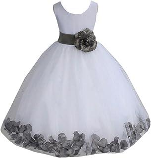 347716b86bd7 ekidsbridal White Floral Rose Petals Flower Girl Dress Birthday Girl Dress  Junior Flower Girl Dresses 302s