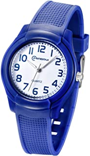 Yadelai Kids Analog Watch for Girls Boys Waterproof Learning Time Wrist Watch Easy to Read Time WristWatches for Kids