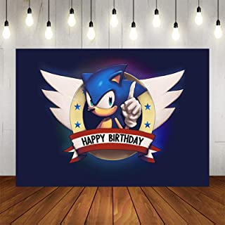 S-o-n-i-c The H-e-d-g-e-h-o-g Happy Birthday Party Decorations Baby Shower Background Desktop Birthday Photography Backgro...