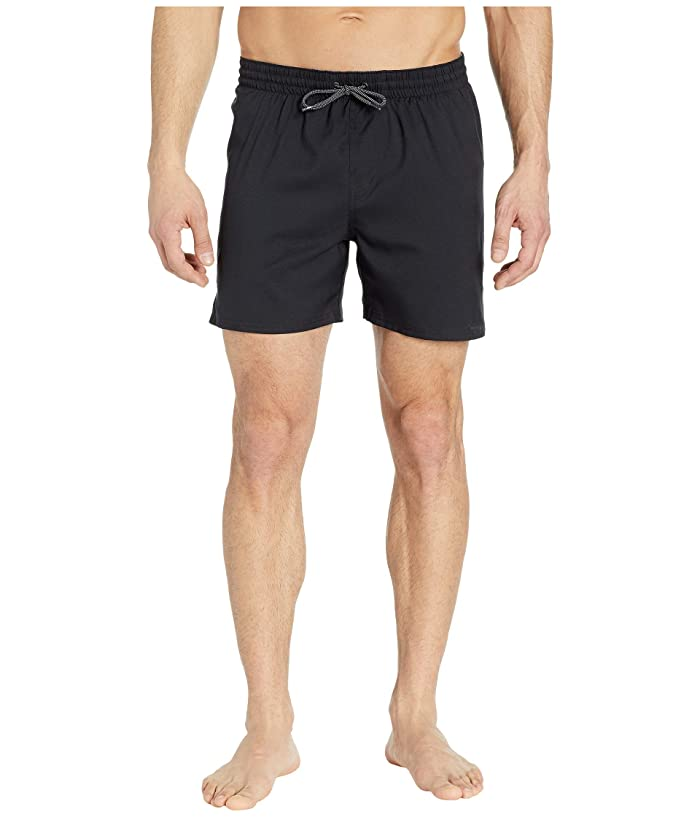 Nike 5 Solid Vital Volley Shorts (Black) Men