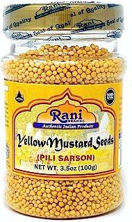 Rani Yellow Mustard Seeds Whole Spice 3.5oz (100g) ~ All Natural | Vegan | Gluten Friendly | NON-GMO | Indian Origin