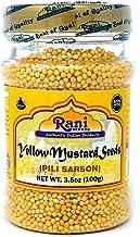 Rani Yellow Mustard Seeds Whole Spice 3oz (85g) ~ All Natural | Vegan | Gluten Free Ingredients | NON-GMO | Indian Origin