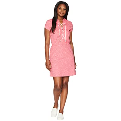 U.S. POLO ASSN. Tie Waist Printed Dress (Fierce Pink) Women