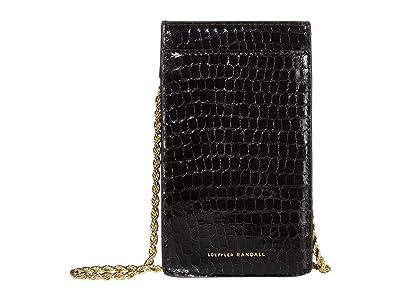 Loeffler Randall Augusta Chain Phone Crossbody (Black) Handbags