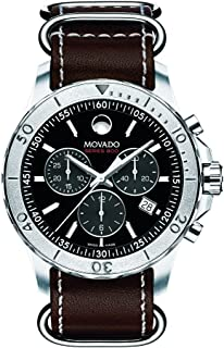 Movado Black Leather Black dial Watch for Men 2600131