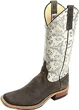 Anderson Bean 4239M Charcoal Boar Cobblestone Emboss Square Toe Boots