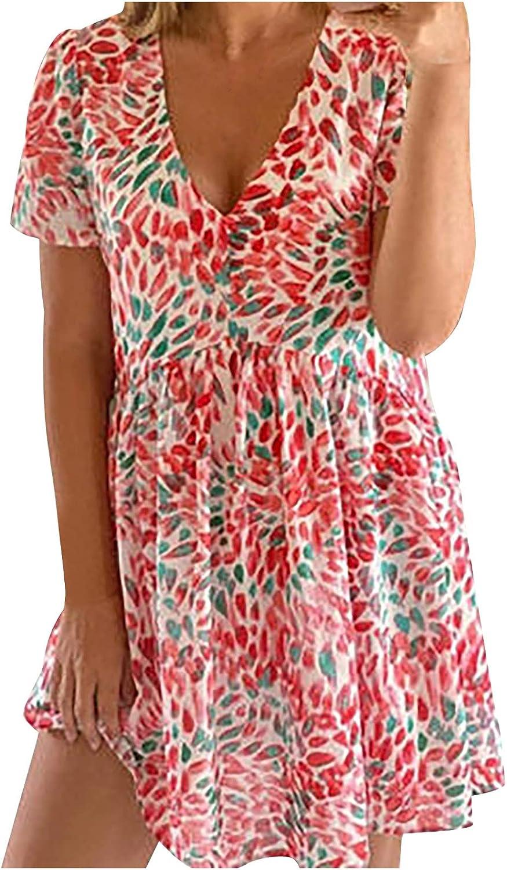 Max 73% OFF Casual Summer Dress for Women Beachwear Sleeveless 2021 model V-Neck Short