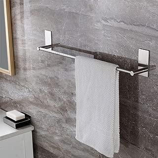 Leyden TM 3M Self Adhesive 22-Inch Stainless Steel Bathroom Single Towel Bar Holder Hanging Rack, Brushed Nickel