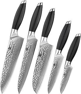 couteau 5 PCS Chef couteaux Set forgé VG10 VG10 Damas Cuisine Couteau Couteau Cadeau Boîte-cadeau Santoku Tranku Steak Cou...