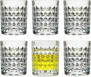 [Feel like Glass] 8 Oz Set of 6 Plastic Glasses Unbreakable Drinking Cups Dishwasher Safe BPA Free Cocktail Beer Drinkware Shatter Proof Crystal Clear Tumblers Acrylic Juice Drinking Glasses for Kids