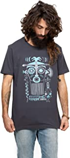 Men's Printed T-Shirt Ancient Aztec Story Art Graphic Color Tribal Mask Top