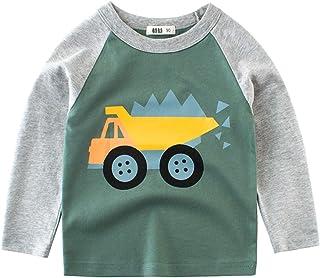 Snyemio Camiseta de Manga Larga Niño Algodón Pulóver Blusa