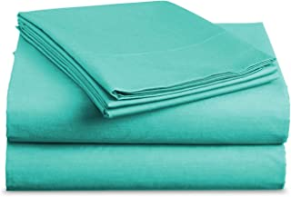 Best BASIC CHOICE Brushed Microfiber Bed Sheet Set, Turquoise, Queen, 4 Pieces Review