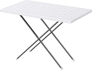 Cosmoplast Plastic Folding Picnic Table with Steel Legs 90 cm, White, Cosmoplast Table Picnic, IFOFCT001WH