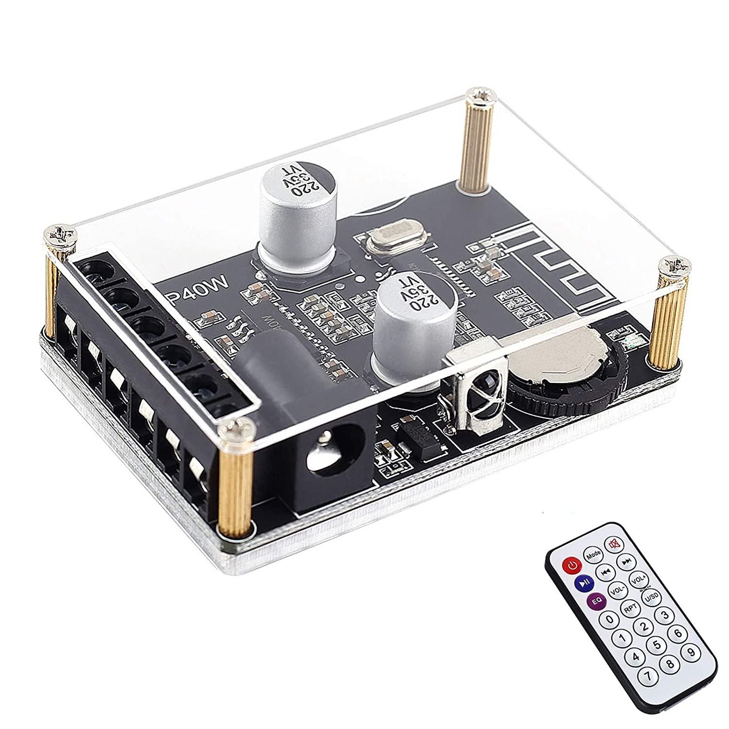 WHDTS Stereo famous Bluetooth Power Amplifier Board 5V Opening large release sale 12V 24V 30W 20W