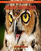 Búho cornudo: Imágenes increíbles y datos divertidos para niños (Spanish Edition)
