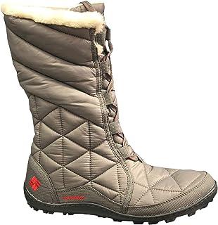 حذاء برقبة شتوي حريمي مقاوم للماء مطبوع عليه Powder Summit II من Columbia أسود