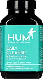 HUM Daily Cleanse - Skin & Body Detox with Organic Algae, 15 Herbs + Minerals (60 Vegan Capsules)