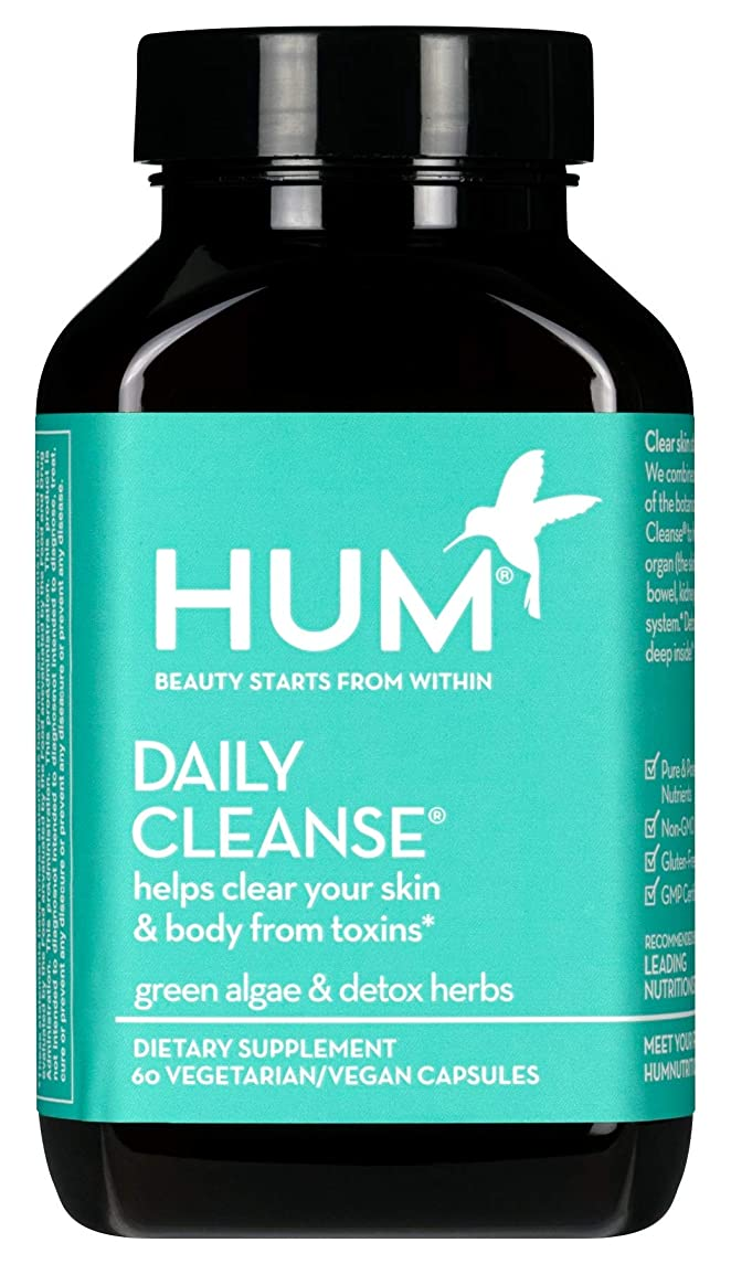 HUM Daily Cleanse - Skin & Body Detox with Organic Algae, 15 Herbs + Minerals (60 Vegan Capsules)