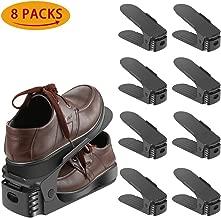 Zapatos de Rack,Organizador de Calzado Ajustable,juego de 8 (Multicolor)