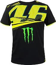 2018 VR46 Valentino Rossi #46 MotoGP Mens T-Shirt Monza Monster Energy Design