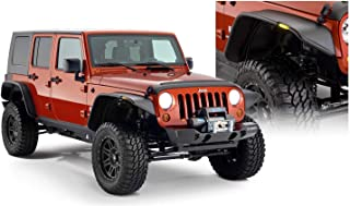 Bushwacker 10918-07 Jeep Flat Style Fender Flare - Set of 4