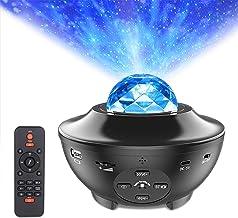 Star Projector Night Light, ALED LIGHT 2-in-1 Ocean Wave LED Starry Night Light Projector Built-in Bluetooth Speaker Sound...