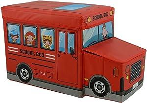 nean Faltbarer Sitzhocker Bus Aufbewahrungsbox Spielzeugtruhe Spielzeugkiste