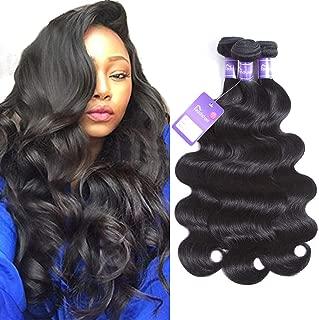 Faddishair Brazilian Virgin Human Hair 18 20 22 Inch Body Wave Hair 100% Unprocessed Virgin Hair Bundles 7A Human Hair Bundles Remy Hair Weft Natural Black Hair Bundles 300g